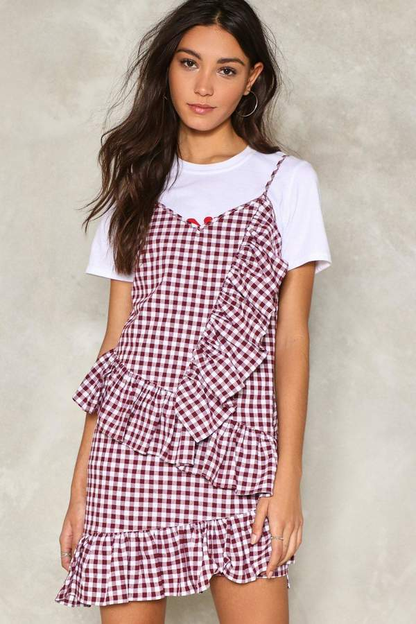 nastygal On Your Checklist Gingham Dress