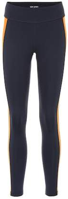 Tory Sport Colorblock mid-rise leggings