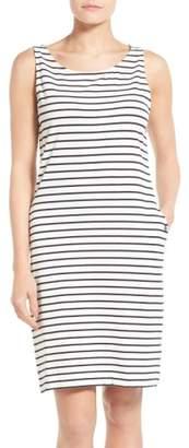Barbour Dalmore Stripe Jersey Sleeveless Shift Dress