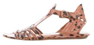 Givenchy Animal Print Ankle Strap Sandals