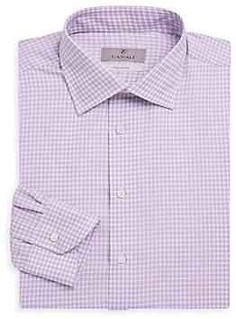 Canali Men's Checked Dress Shirt