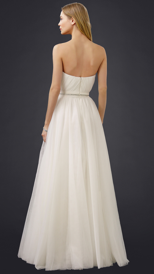 Reem Acra Virtue Strapless Gown