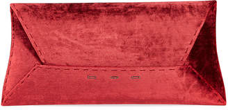 VBH Manila Stretch T Velvet Clutch Bag, Wine