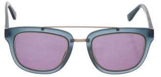 Derek Lam Square Tinted Sunglasses Blue Square Tinted Sunglasses