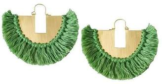"Ricardo Rodriguez Design Brass & Wool Earrings ""Baroque"""