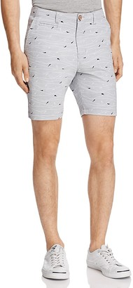 Oxford Lads Shark Print Slim Fit Shorts $85 thestylecure.com