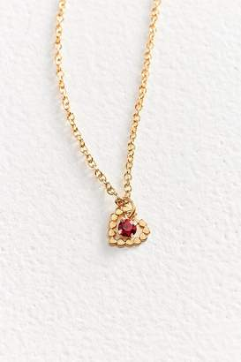 Vintage Heart Of Gold Charm Necklace