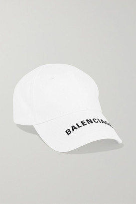 Balenciaga Embroidered Cotton-twill Baseball Cap - White