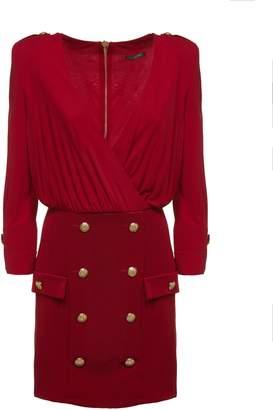 Balmain Button Embellished Dress