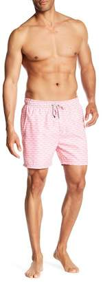 The Endless Summer Scallop Patterned Swim Trunks