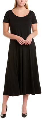 Joan Vass Plus Midi Dress