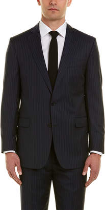 Brooks Brothers Regent Fit Wool Suit With Flat Front Pant