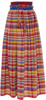 Carolina K. Santa Clara Hand Embroidered Cotton Skirt