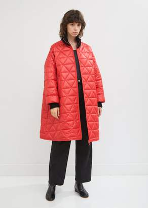 Hache Quilted Rib Collar Bomber Jacket