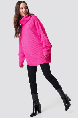 Na Kd Trend Neon Oversized Sweater Neon Pink