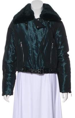 Post Card Faux Fur-Trimmed Zip-Up Jacket w/ Tags