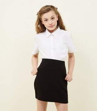 New Look Girls Black Elasticated Waist Skirt