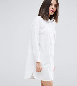 Asos DESIGN Petite cotton mini shirt dress