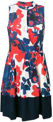 Sara Roka asymmetric printed sun dress