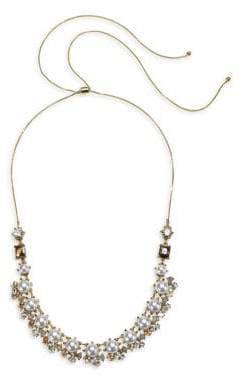 Badgley Mischka 10K Gold, Faux Pearl & Crystal Statement Necklace