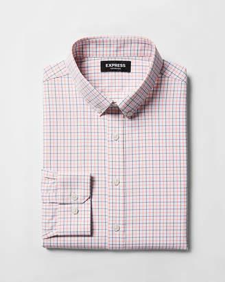 Express Slim Plaid Button-Down Performance Dress Shirt