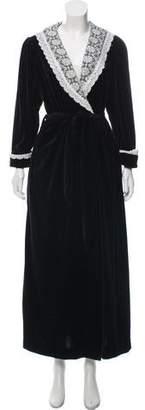 Christian Dior Shawl-Collar Velvet Robe