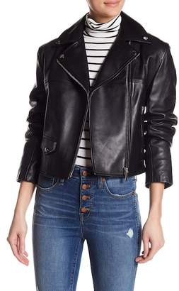 Helmut Lang Lamb Leather Biker Jacket