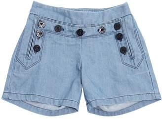 Chloé Light Denim Shorts W/ Buttons