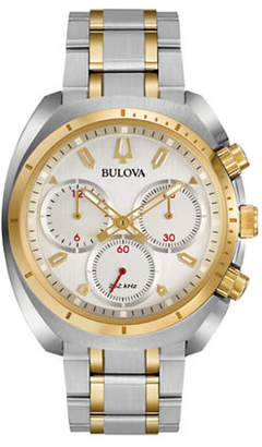 Bulova Chronograph Curv Collection Stainless Steel Watch