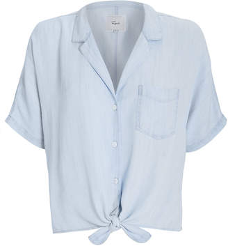 Rails Holly Chambray Tie Front Top