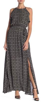 Daniel Rainn DR2 by Halter Floral Print Maxi Dress