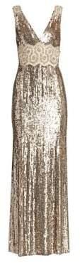 Jenny Packham Loretta Beaded Lace Applique Gown