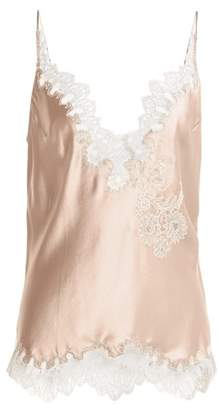 Carine Gilson Lace Trimmed Silk Satin Cami Top - Womens - Light Pink