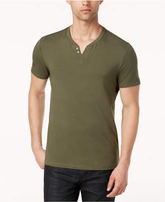 Alfani Men's Split-Neck Cotton T-Shirt