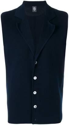 Eleventy sleeveless button-down cardigan
