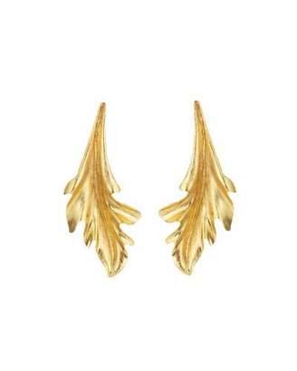 Oscar de la Renta Baroque Leaves Earrings