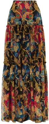 Etro Tiered Paisley Maxi Skirt