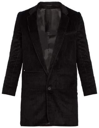 Bless Single Breasted Corduroy Blazer - Mens - Black