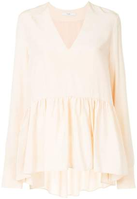 Tibi V-neck peplum blouse