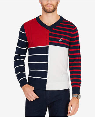 Nautica Men Patchwork Sweater