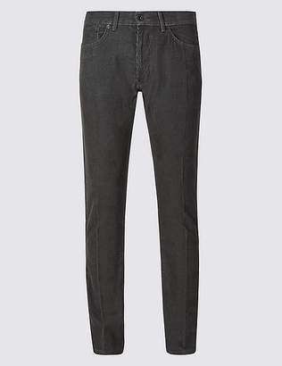 Marks and Spencer Slim Fit Pure Cotton Corduroy Trousers