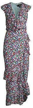 Saloni Women's Anita High-Low Ruffle Dress
