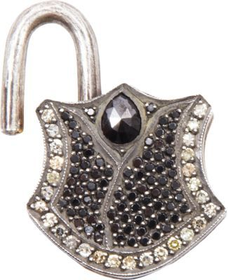 Sevan Biçakci Black & Yellow Diamond Small Padlock