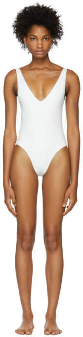 Her Line SSENSE Exclusive White Ester Swimsuit