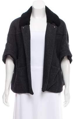 Marni Shearling-Trimmed Wool Jacket