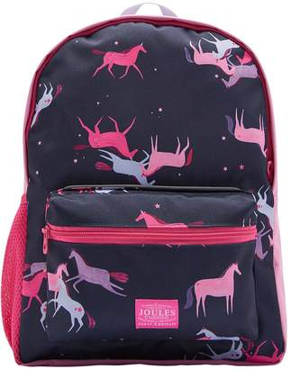Joules Girls Unicorn Printed Backpack