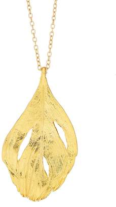 Chupi - Maxi Swan Feather Necklace Gold