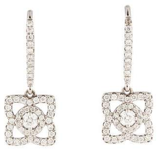 De Beers 18K Diamond Lotus Drop Earrings