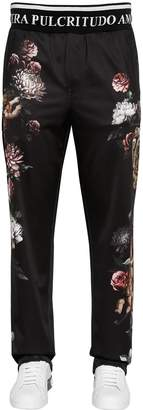 Dolce & Gabbana Angels Printed Jersey Track Pants