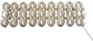 One Kings Lane Vintage Monet Silvertone Tuscany Bracelet - 1957 - Carrie's Couture